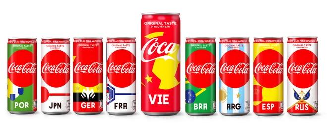 Coca-Cola gioi thieu mau lon lay cam hung tu World Cup hinh anh 1