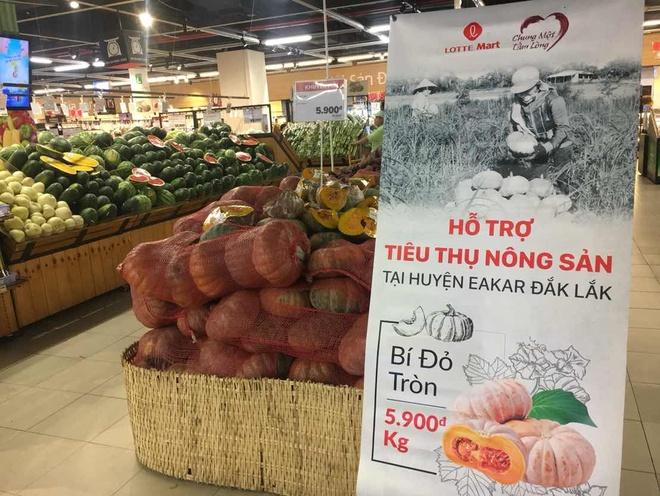 Lotte Mart ho tro tieu thu bi do Dak Lak, dua hau Quang Nam hinh anh 1