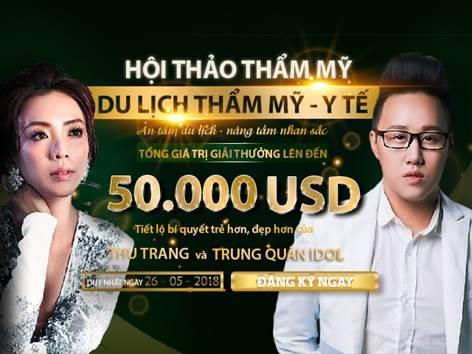 Du lich tham my Han cung nghe si hai Thu Trang va Trung Quan Idol hinh anh