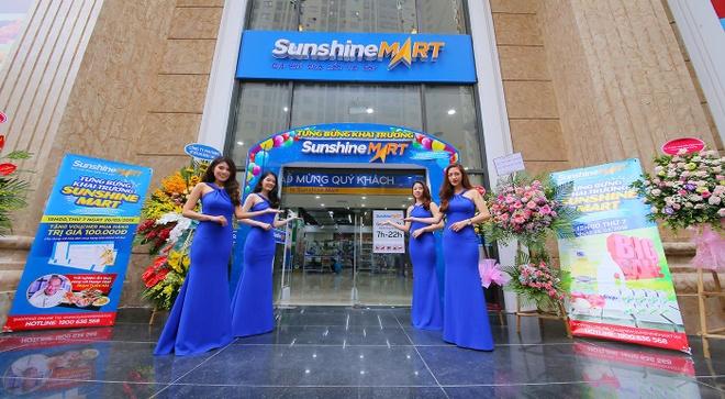 Sieu thi Sunshine Mart Hoang Mai chinh thuc di vao hoat dong hinh anh