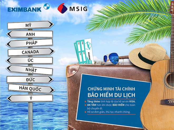 Eximbank, MSIG ra mat san pham chung minh tai chinh - bao hiem du lich hinh anh 2