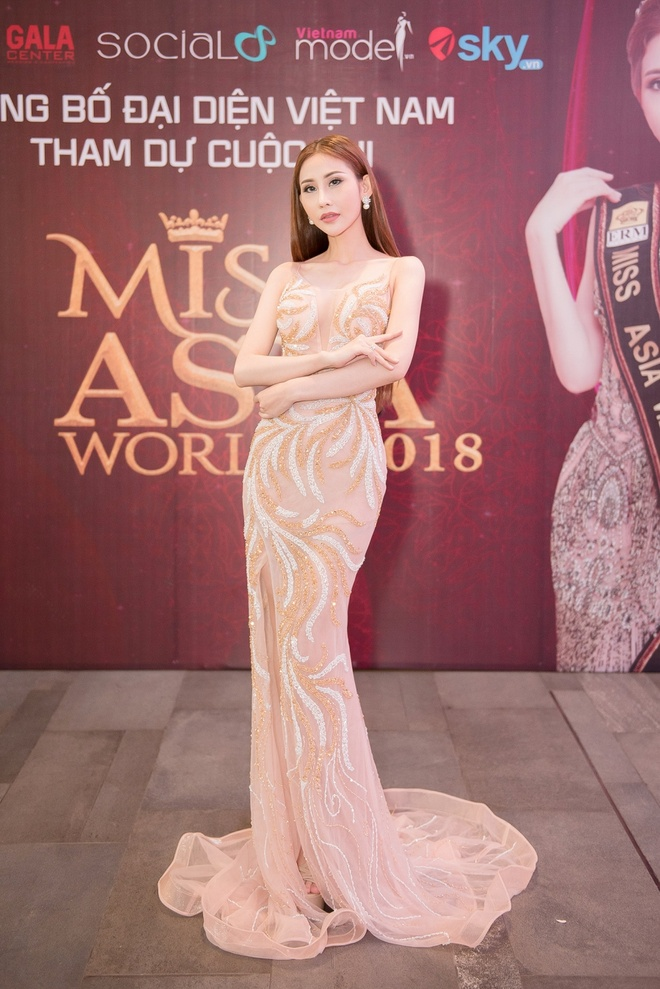 Chi Nguyen len duong 'chinh chien' tai Miss Asia World 2018 hinh anh 2