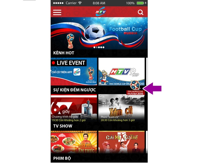 Xem World Cup mien phi tren smartphone qua ung dung HTVC hinh anh 3