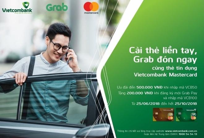 Giam 50% moi chuyen Grab khi thanh toan qua the Vietcombank Mastercard hinh anh
