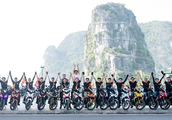 500 biker Honda Winner hoi tu ve Do Son hinh anh