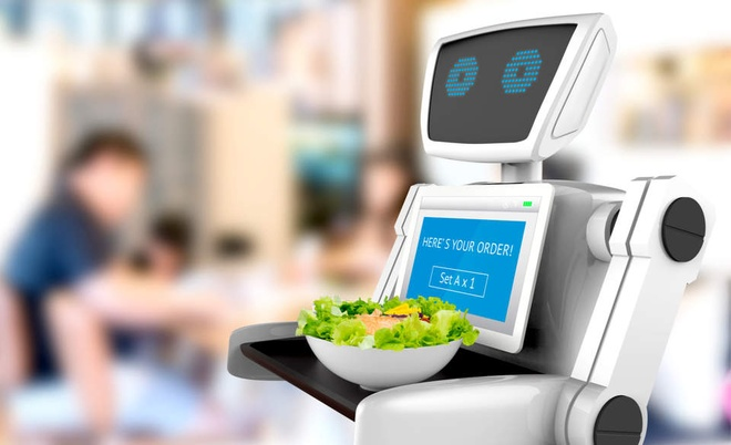 Kinh doanh nha hang: Robot se khong thay the con nguoi hinh anh