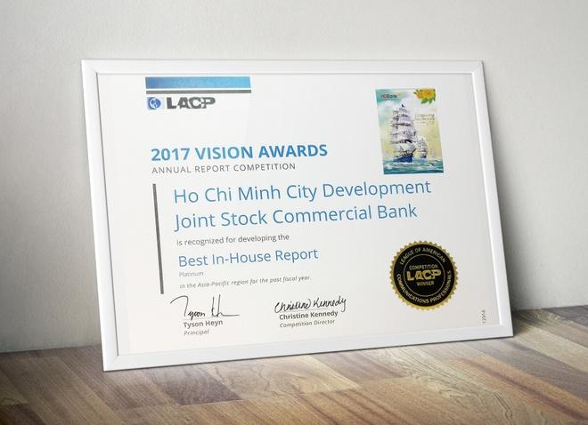 Bao cao thuong nien 2017 HDBank dat giai cao nhat tai Vision Award hinh anh 2