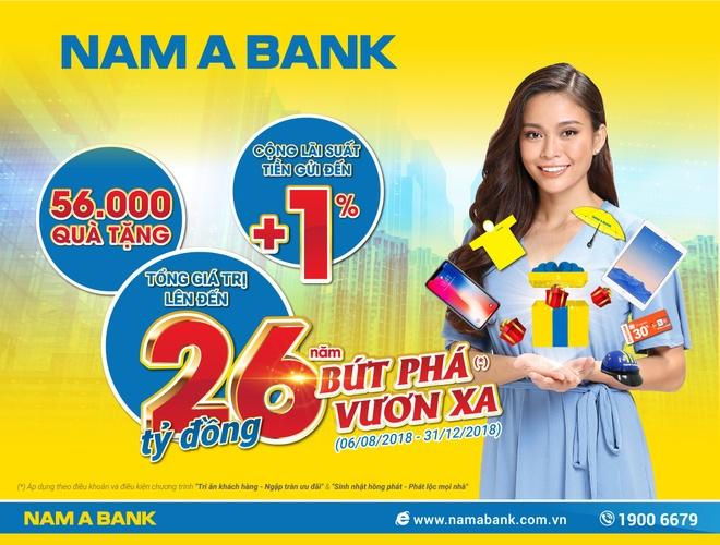 Loi nhuan truoc thue tang, Nam A Bank chi 26 ty dong tri an khach hang hinh anh 2