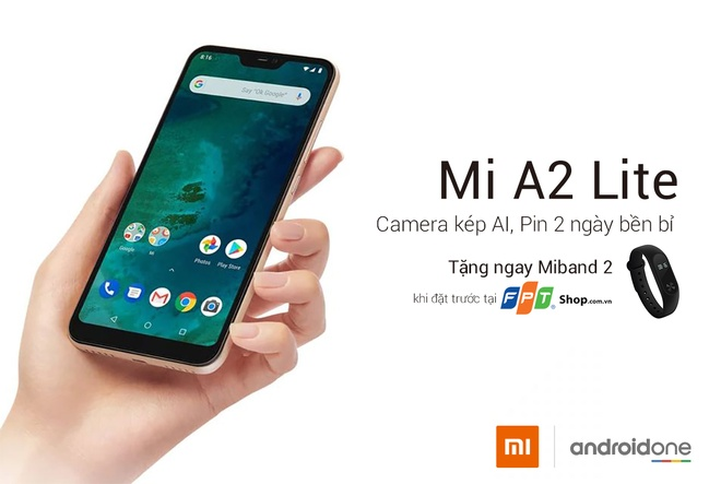 Nhan Mi Band 2 khi dat truoc Xiaomi A2 Lite tai FPT Shop hinh anh
