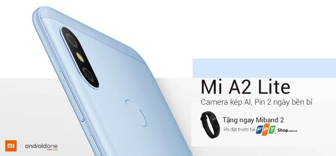 Nhan Mi Band 2 khi dat truoc Xiaomi A2 Lite tai FPT Shop hinh anh 2
