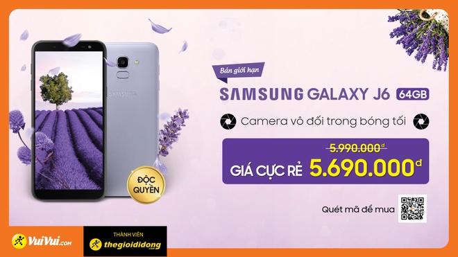 Galaxy J6 Lavender: Bo nho trong 64 GB, gia 5,69 trieu dong hinh anh 3