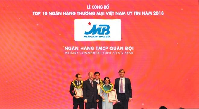 MB tang 2 bac trong top 10 ngan hang thuong mai Viet Nam uy tin 2018 hinh anh 1