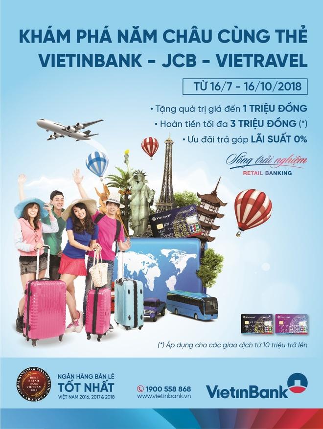Kham pha 5 chau cung the VietinBank - JCB - Vietravel hinh anh 1