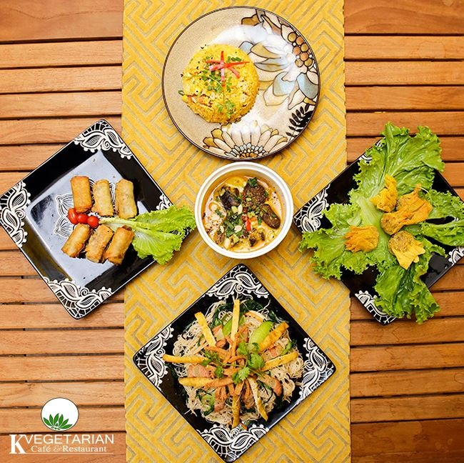 K Vegeterian Cafe & Restaurant - quan an chay cho gia dinh dip Vu Lan hinh anh 4