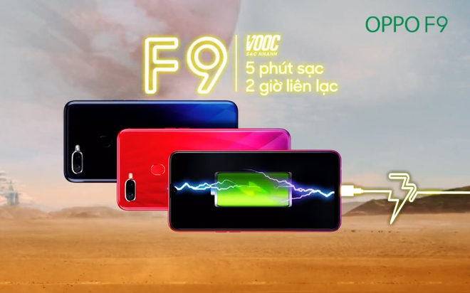 Smartphone tam trung Oppo F9 so huu cong nghe sac 5 phut dung 2 gio hinh anh 1
