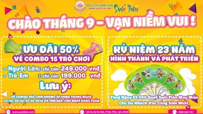 Den Suoi Tien trai nghiem ky nghi vang dip le 2/9 hinh anh 10