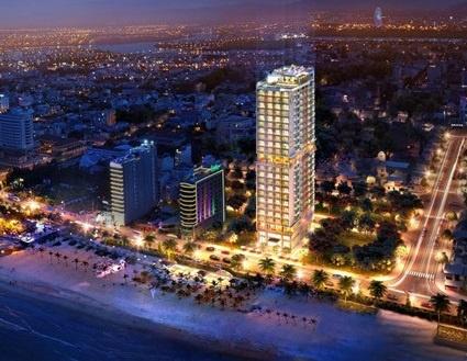 TMS Luxury Hotel Danang Beach gap rut thi cong chuan bi khai truong hinh anh