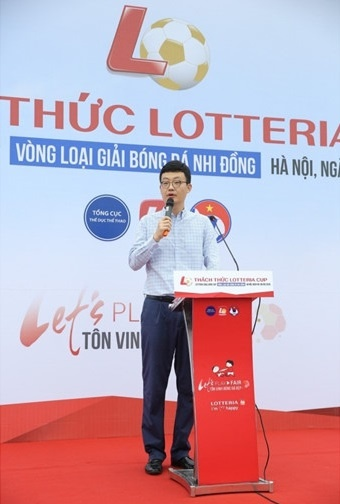 Giai bong nhi dong 'Thach thuc Lotteria Cup' khoi tranh hinh anh 1