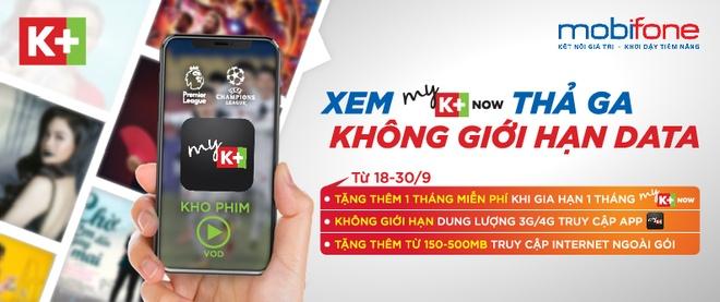 MobiFone hop tac K+ tung khuyen mai lon cho khach hang hinh anh 1