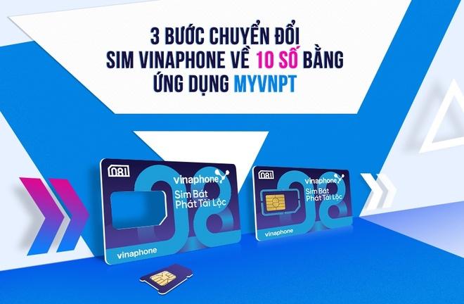 3 buoc chuyen doi SIM VinaPhone ve 10 so bang ung dung MyVNPT hinh anh