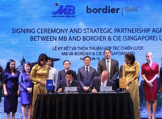 MB Bank ky thoa thuan hop tac chien luoc voi Bordier & Cie Singapore hinh anh