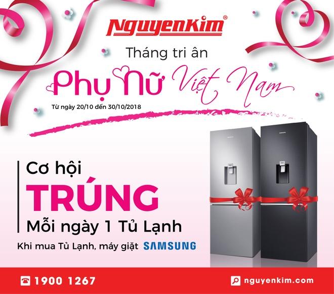 Samsung va Nguyen Kim tang tu lanh cho khach hang dip 20/10 hinh anh 1