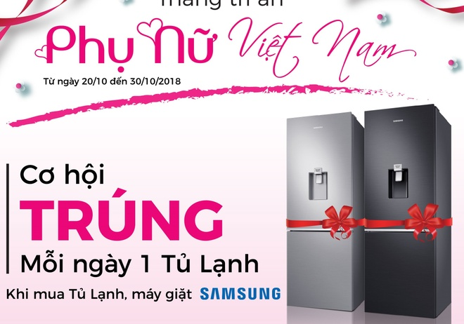 Samsung va Nguyen Kim tang tu lanh cho khach hang dip 20/10 hinh anh