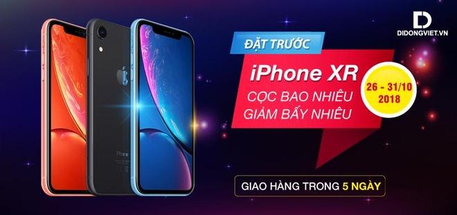 Đặt trước iPhone XR tại Di Động Việt – Cọc bao nhiêu, giảm bấy nhiêu