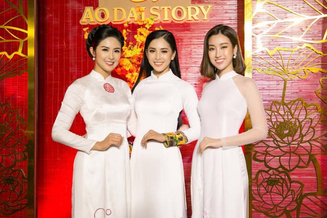 HH Ngoc Han, My Linh va Tieu Vy rang ro tai chuong trinh Ao dai Story hinh anh