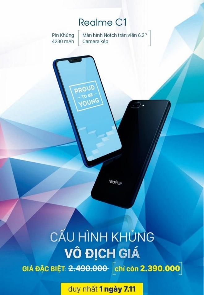 Realme C1 co gia 2,39 trieu dong trong ngay flash sale hinh anh 1