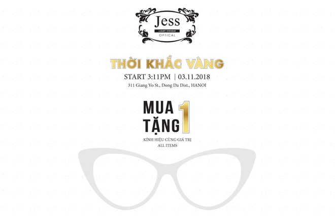 Mua mot tang mot tai Jess Luxury Eyewear 311 Giang Vo hinh anh 5