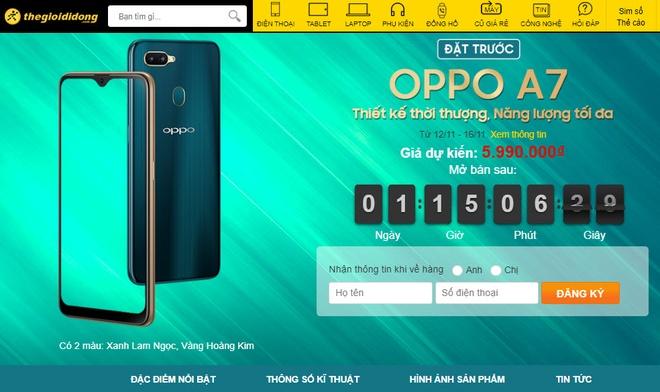 Smartphone Oppo A7 gia duoi 6 trieu, len ke thang 11 hinh anh 4