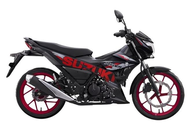 Suzuki Raider R150 Fi 'lot xac' voi bo ba mau moi hinh anh 2