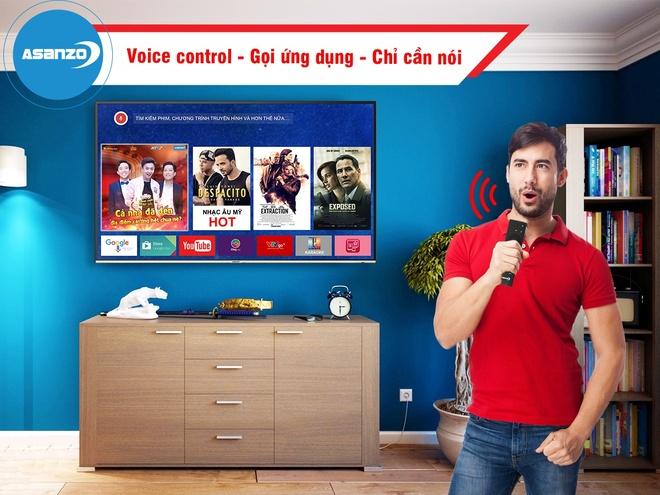 Smart TV Asanzo tich hop tri tue nhan tao hinh anh 2