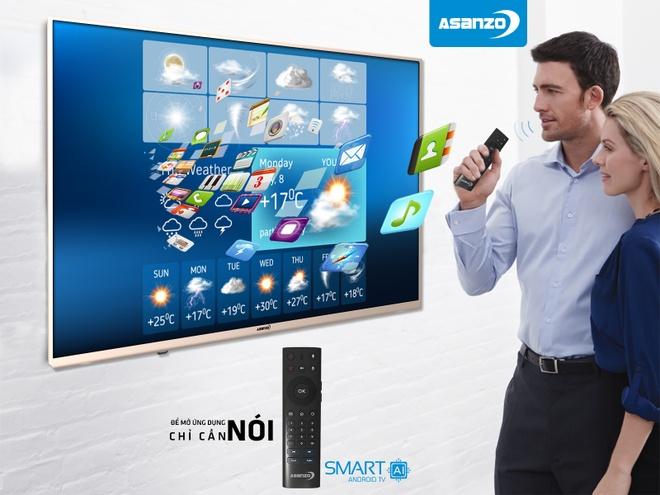 Smart TV Asanzo tich hop tri tue nhan tao hinh anh 6