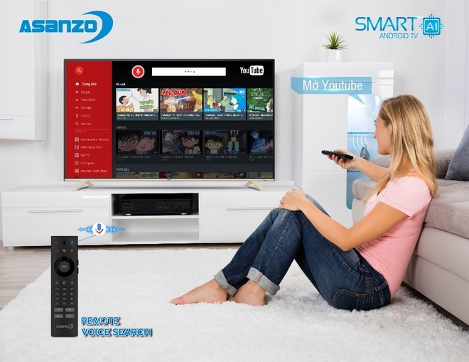Smart TV Asanzo tich hop tri tue nhan tao hinh anh