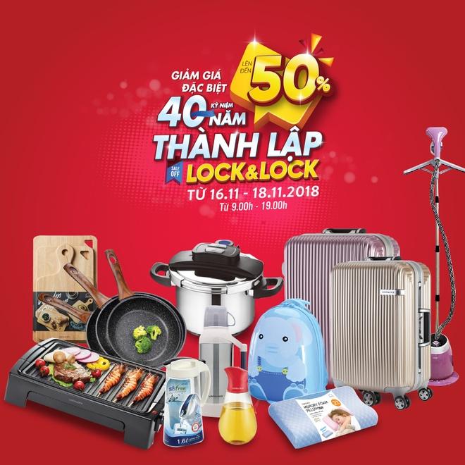 Lock&Lock giam gia den 50% loat san pham tai nha may Bac Ninh hinh anh 1
