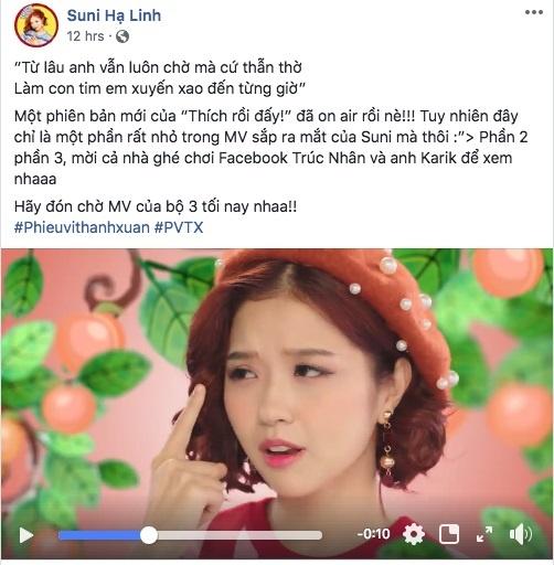 Suni, Truc Nhan va Karik dong loat tung MV khien dan mang to mo hinh anh 1