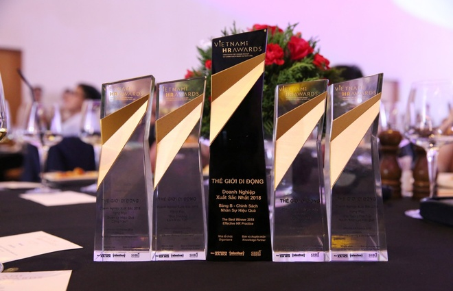 The Gioi Di Dong nhan 5 giai thuong Vietnam HR Awards 2018 hinh anh