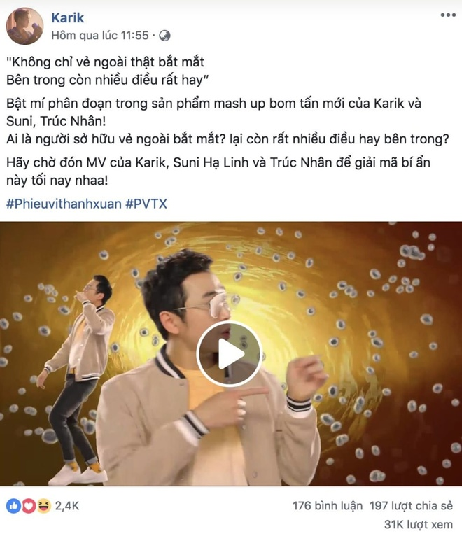 Fan ru nhau tim nhan vat bi an trong MV moi cua Karik, Suni, Truc Nhan hinh anh 1
