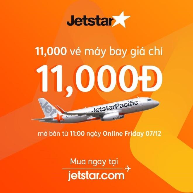 Jetstar bán vé 11.000 đồng dịp Online Friday 2018