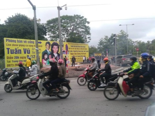 EVN Hanoi thong bao nguyen nhan no bot dien duong Pham Hung hinh anh