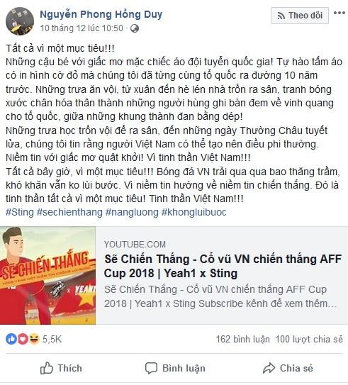 Quang Hai - Hong Duy khoi day niem tin chien thang bang MV day cam xuc hinh anh 2