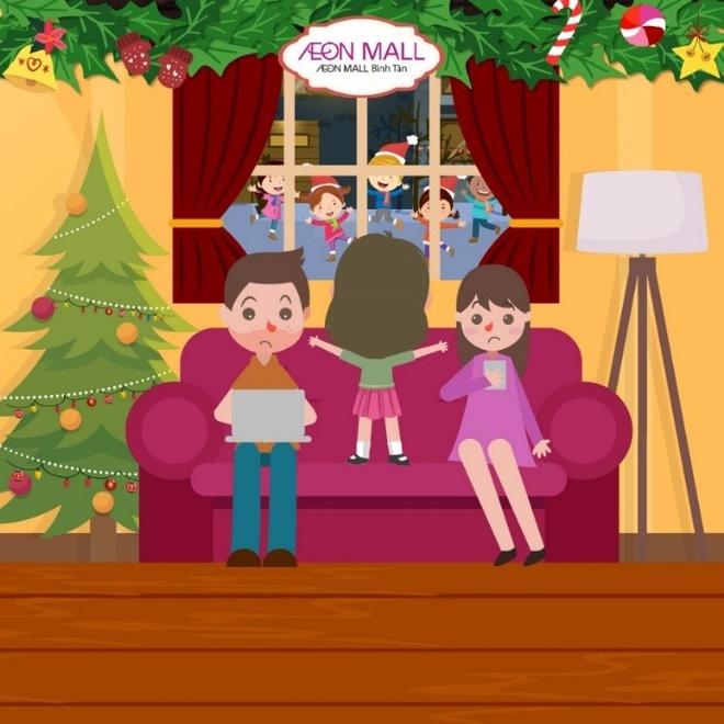 Ong gia Noel tang qua tai AEON Mall Binh Tan hinh anh 1