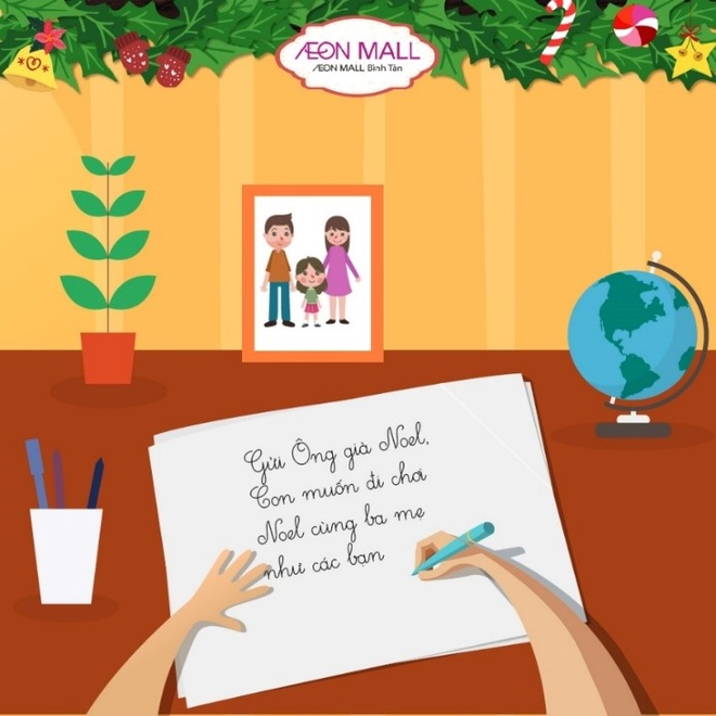 Ong gia Noel tang qua tai AEON Mall Binh Tan hinh anh 2