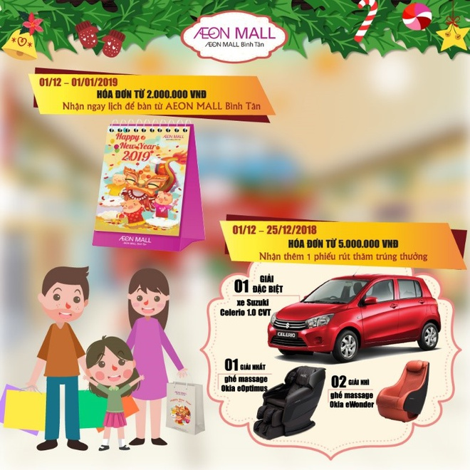 Ong gia Noel tang qua tai AEON Mall Binh Tan hinh anh 6