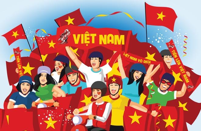 Nhung kieu co dong vien bong da chi co o Viet Nam hinh anh