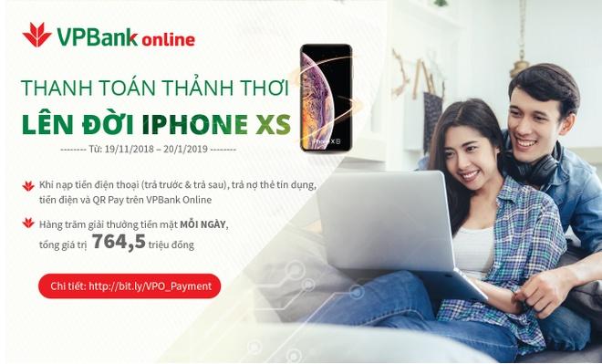 Co hoi 'len doi' iPhone XS khi thanh toan truc tuyen voi VPBank hinh anh