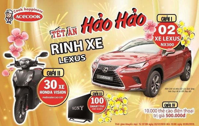 Tet an Hao Hao, rinh xe Lexus hinh anh 1