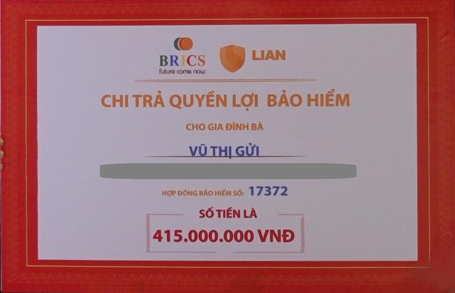 Lian chi tra trach nhiem bao hiem 415 trieu dong cho khach hang hinh anh 1